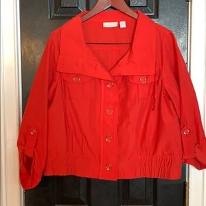 Chico's red coat size 2 Large